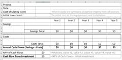 Net Present Value Form